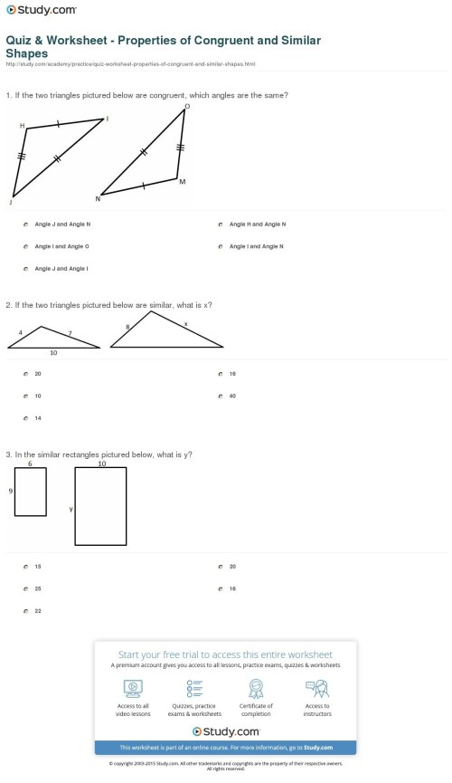 small resolution of Congruent And Similar Worksheets   Printable Worksheets and Activities for  Teachers