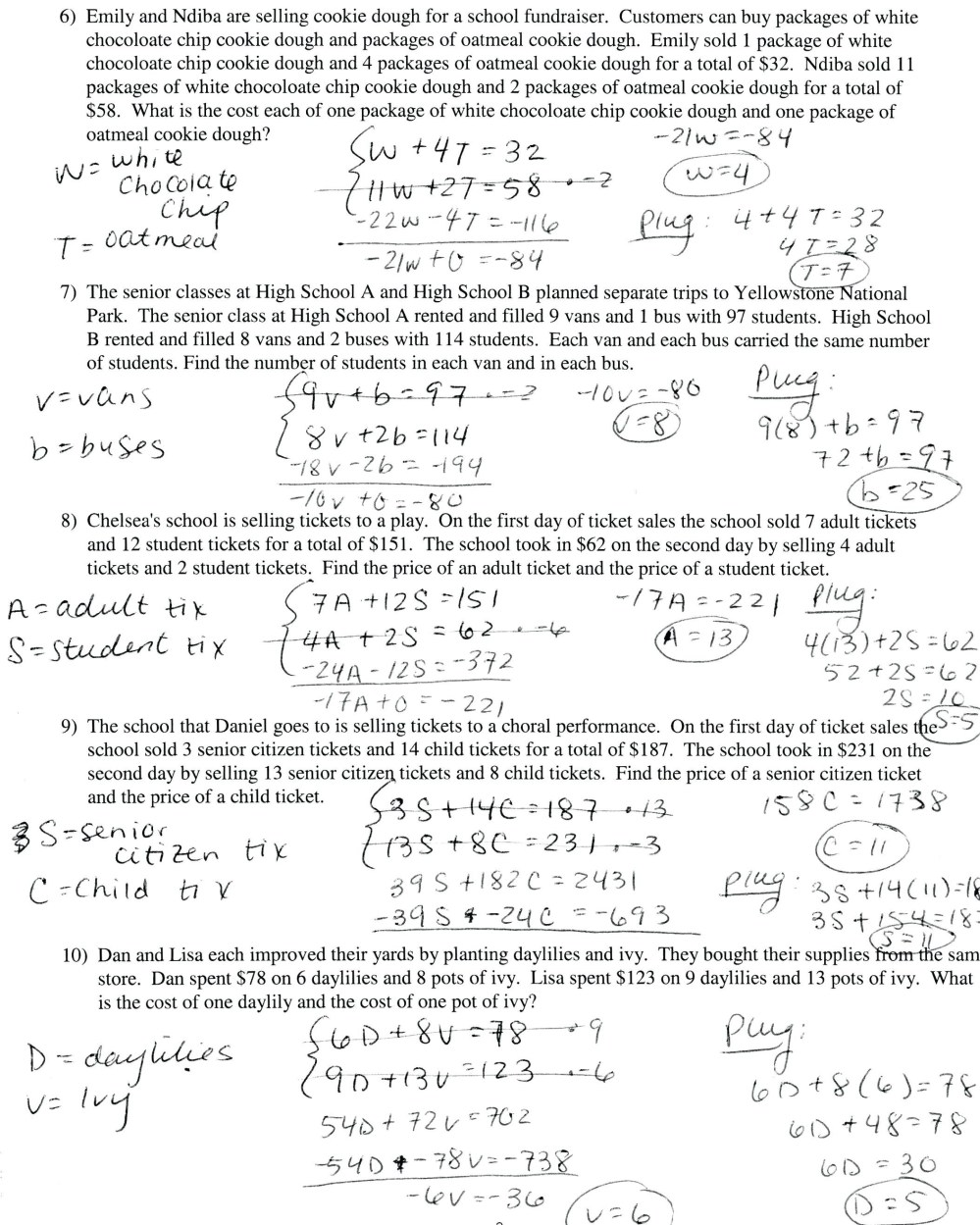 medium resolution of Writing Equations Word Problems Worksheet   Printable Worksheets and  Activities for Teachers