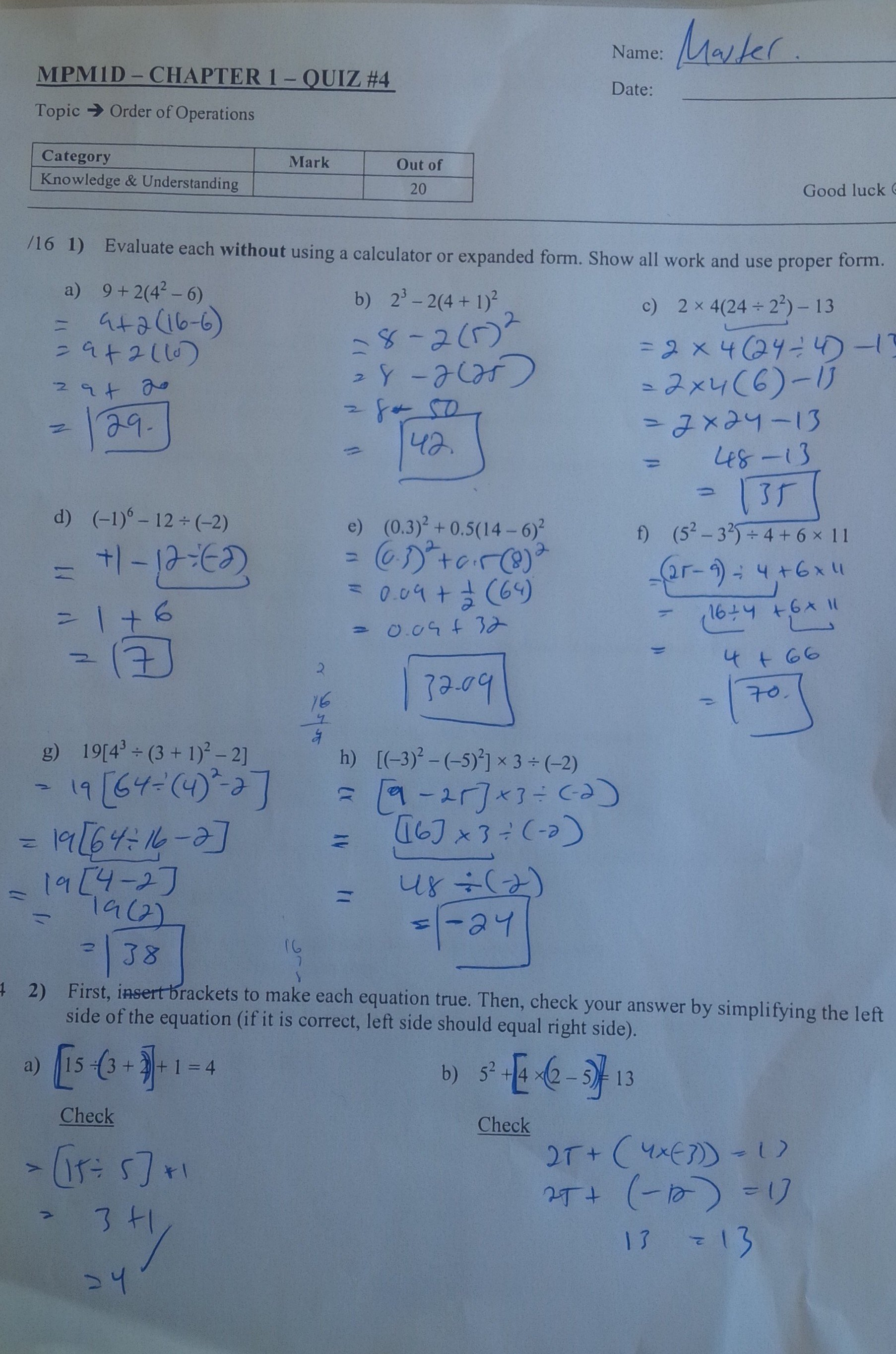 Solving Quadratic Equations By Completing The Square