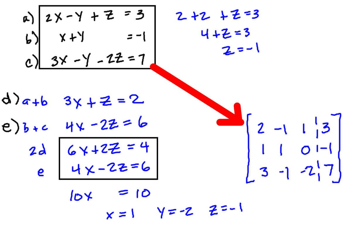 Solving Systems Of Equations Using Matrices Worksheet