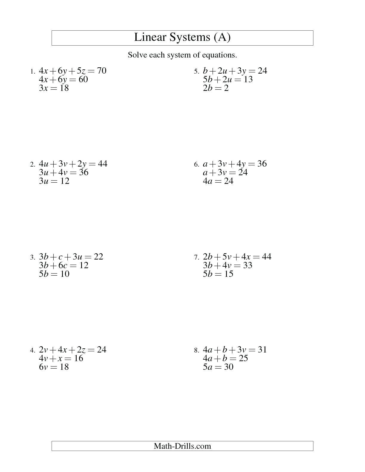 Solving Linear Inequalities Worksheet