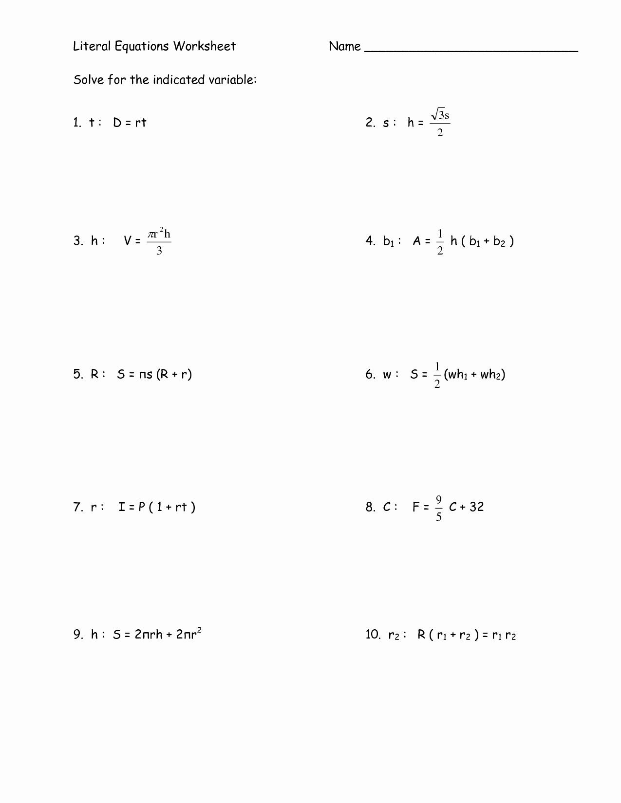 Systems Of Linear Equations Word Problems Worksheet