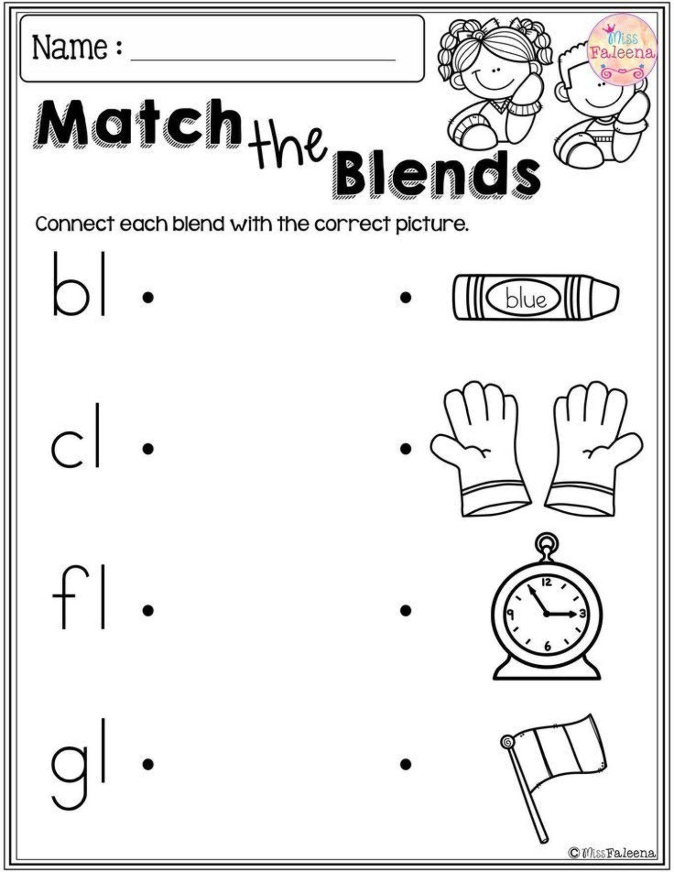Ending Blends Worksheets