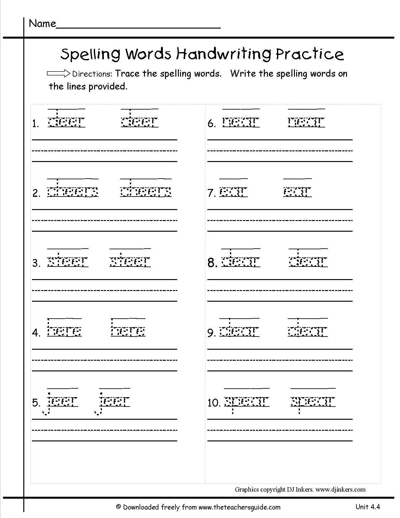 hight resolution of Spelling Worksheets Unit 24   Printable Worksheets and Activities for  Teachers