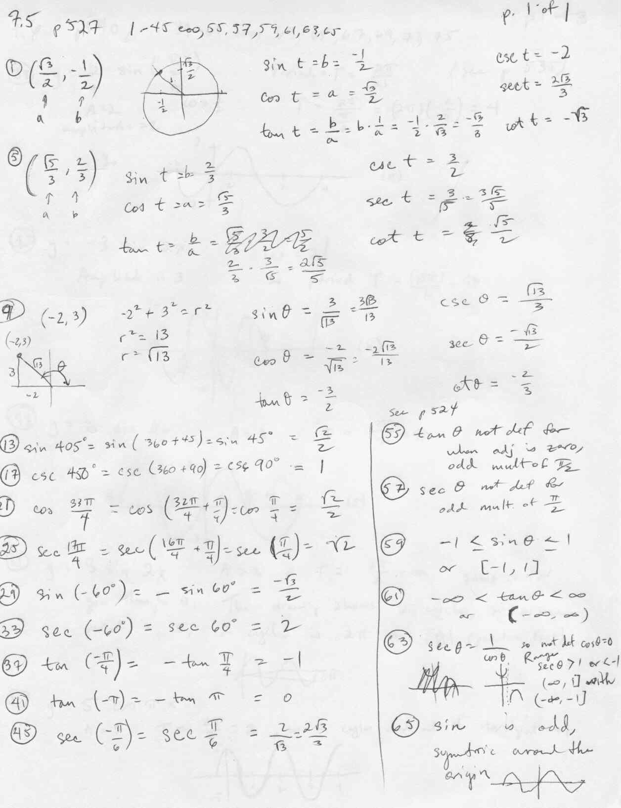 Worksheet 7 4 Inverse Functions Answers