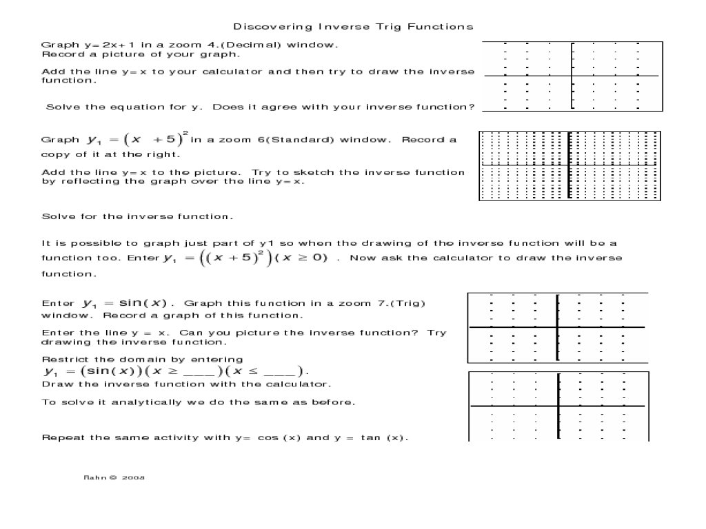 Worksheet 7 4 Inverse Functions Answers Excelguider