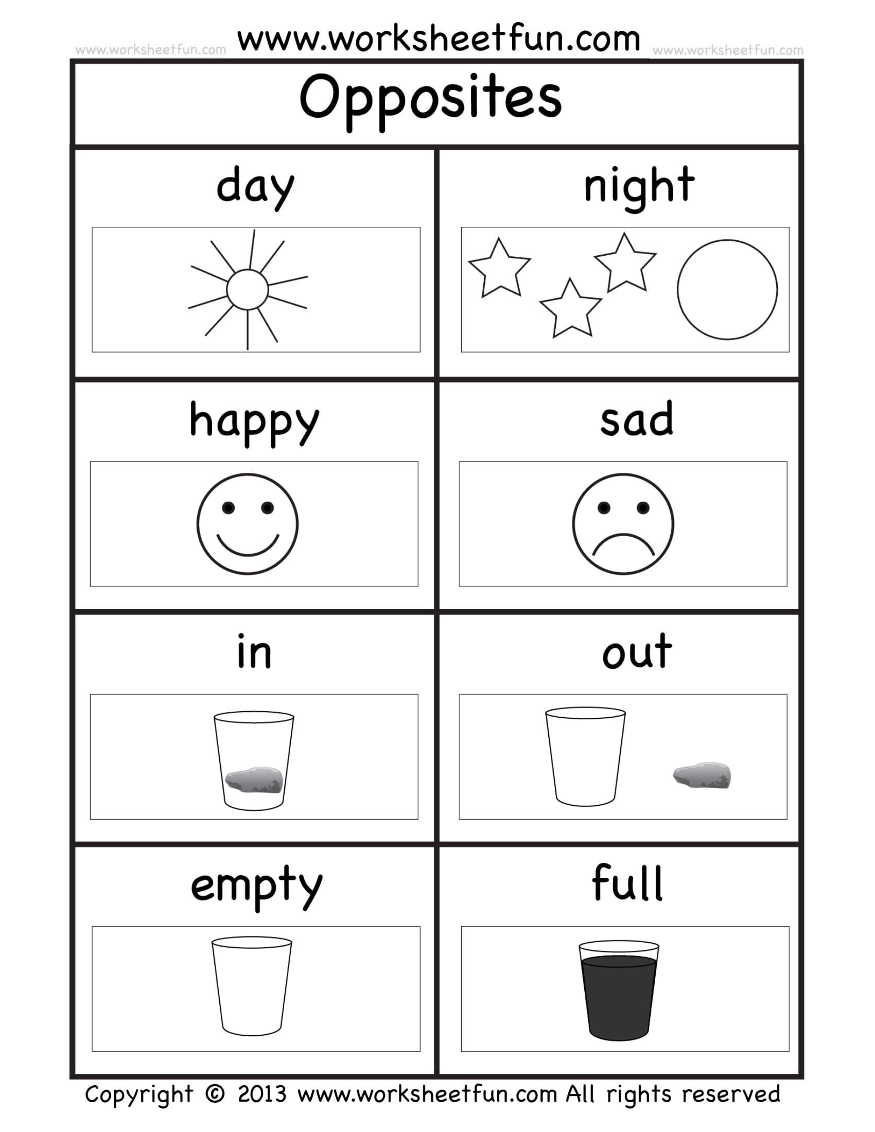 Sample Worksheet For Kindergarten