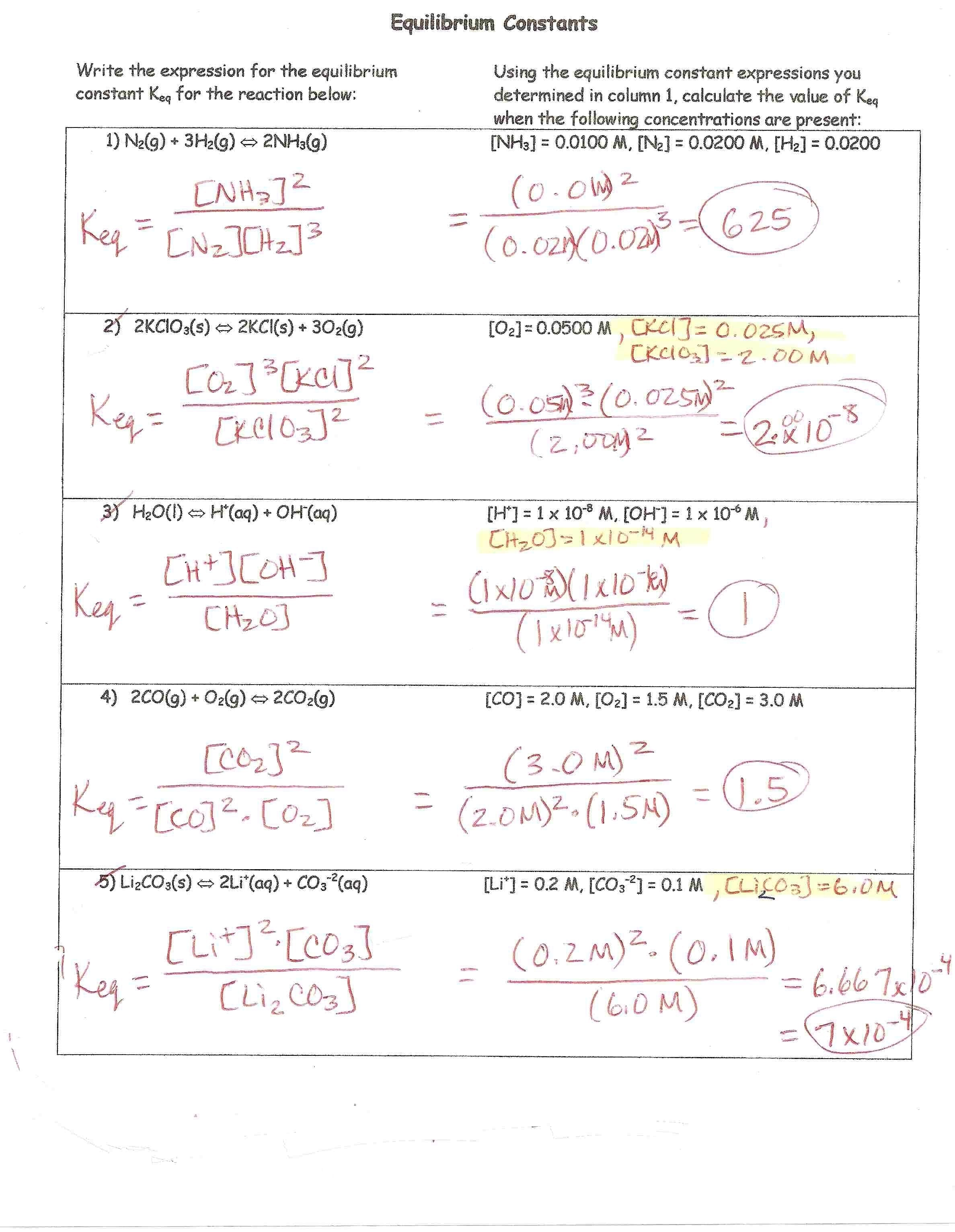 H Chem Keys With Percent Error Worksheet Answer Key