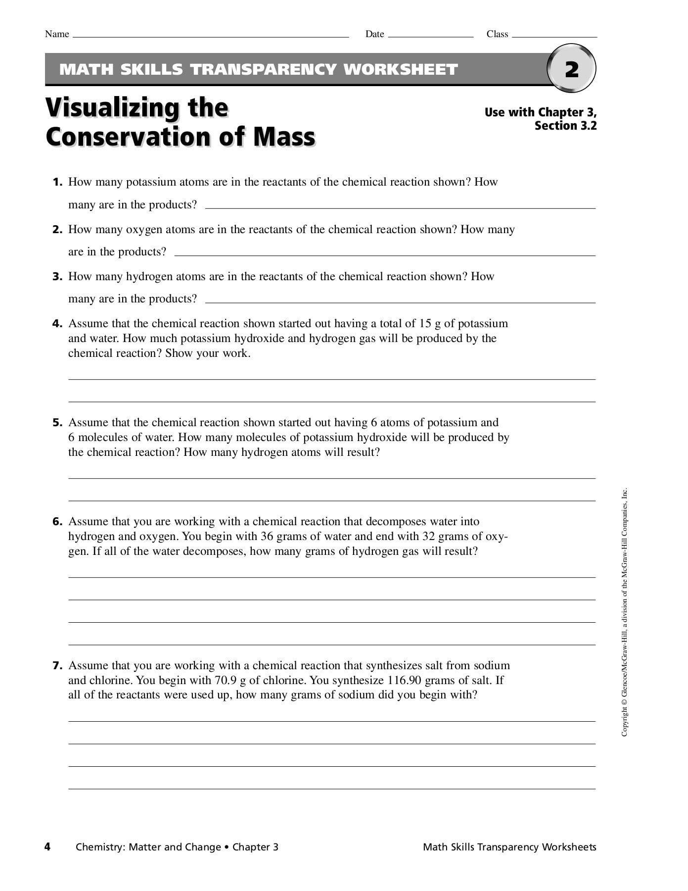 Teaching Transparency Worksheet Answers