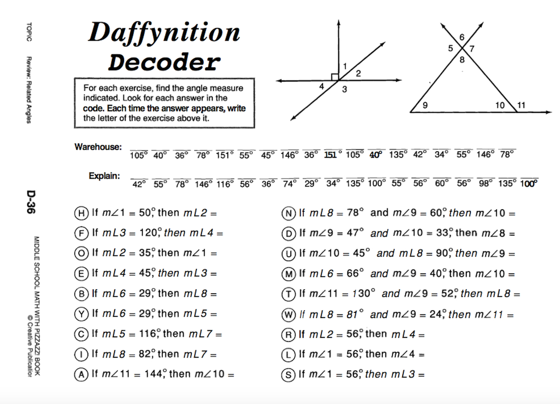 Daffynition Decoder Worksheet Answers