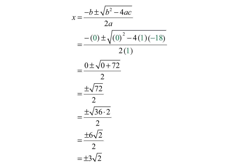 Solving Using The Quadratic Formula Worksheet Answer Key