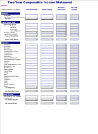 Download Two-year comparative income statement