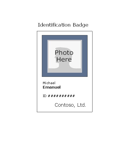 Download Employee ID badge (portrait)