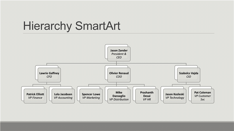Download Hierarchy organizational chart (gray on gray