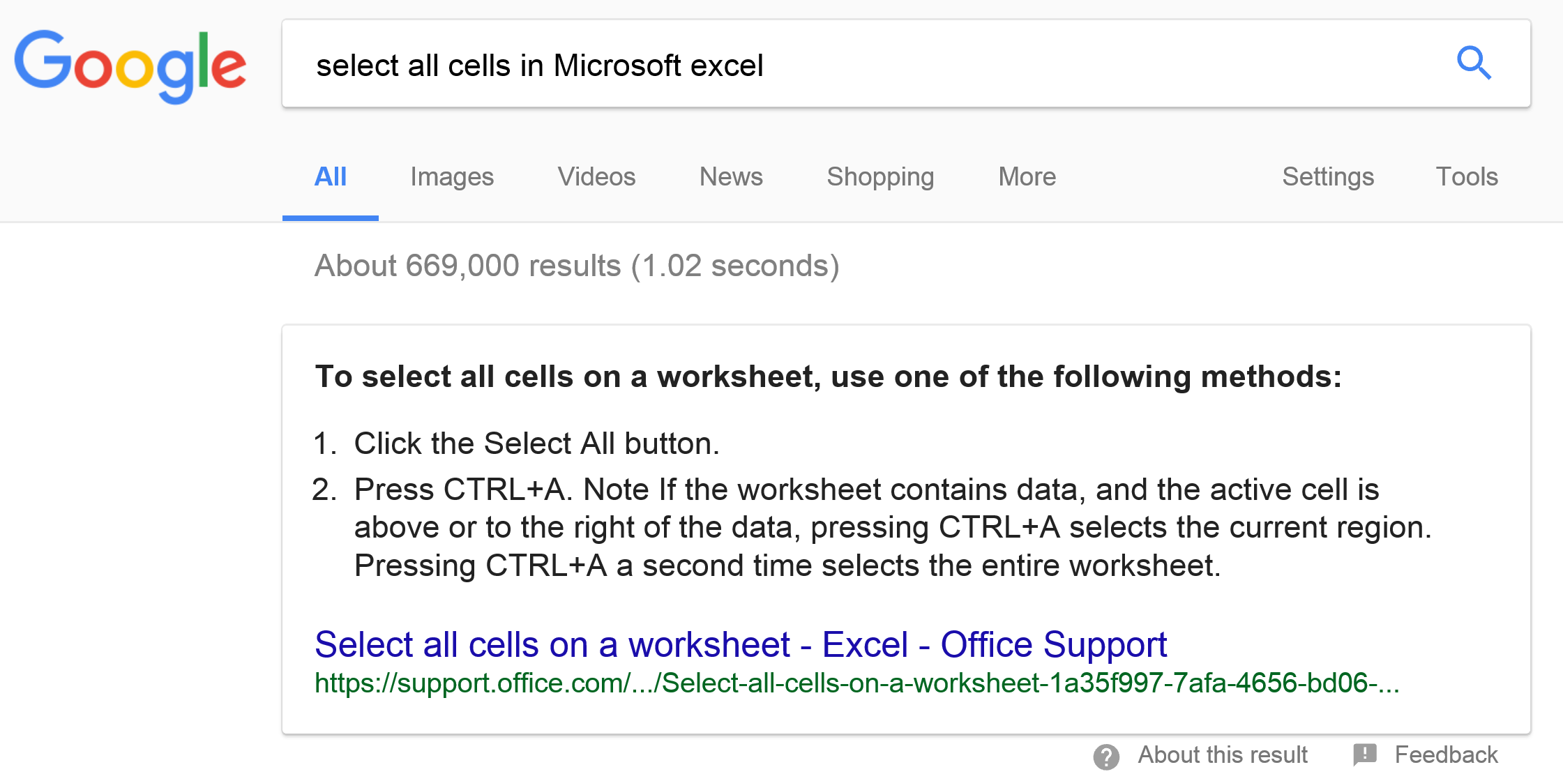 Excel Hints