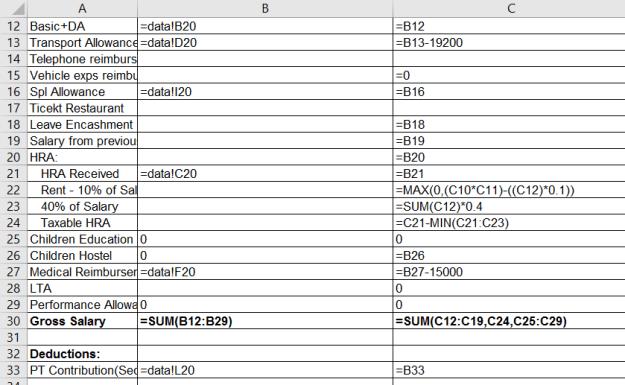 View or Print all formulas