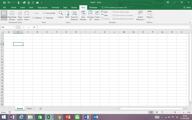 What you need to know in excel screen ?