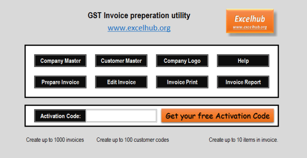 GST invoice software_ excel