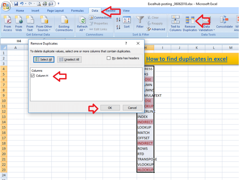 How to find duplicates in excel- 3 ways to check for duplicates