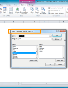 From the video how to add  calculated item pivot table also excel tutorial rh exceljet