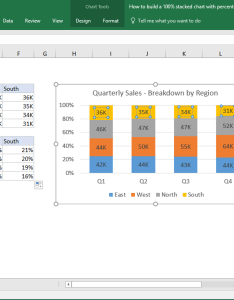 From the video how to build  stacked chart with percentages also excel tutorial rh exceljet