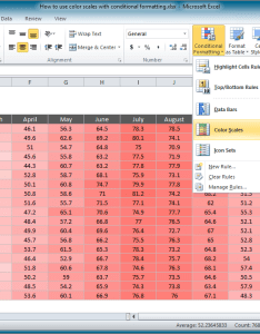 From the video how to use color scales with conditional formatting also excel tutorial rh exceljet
