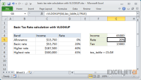 Excel formula: Basic Tax Rate calculation with VLOOKUP ...