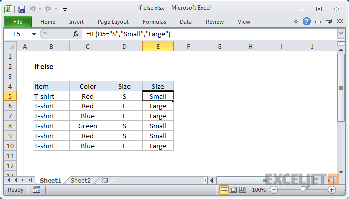 Excel formula if else also exceljet rh