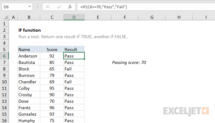 also how to use the excel if function exceljet rh