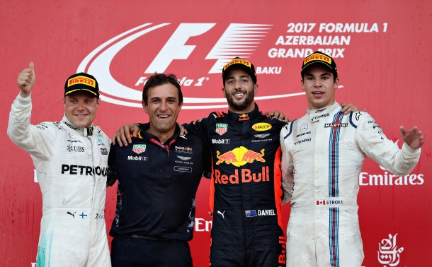 2017 Azerbaijan Grand Prix podium