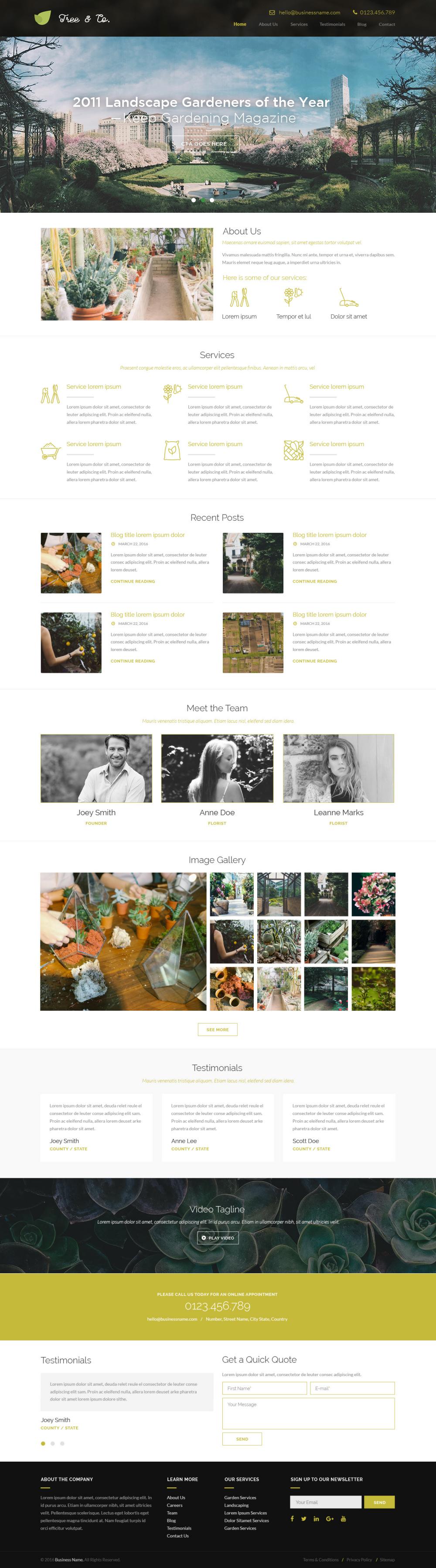 Gardening 4 - Landscaping / Gardening Website Design