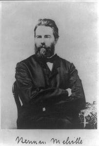 Herman Melville, American author, 1861. Reproduction of photograph, frontispiece to Journal Up the Straits. Public domain in the U.S.