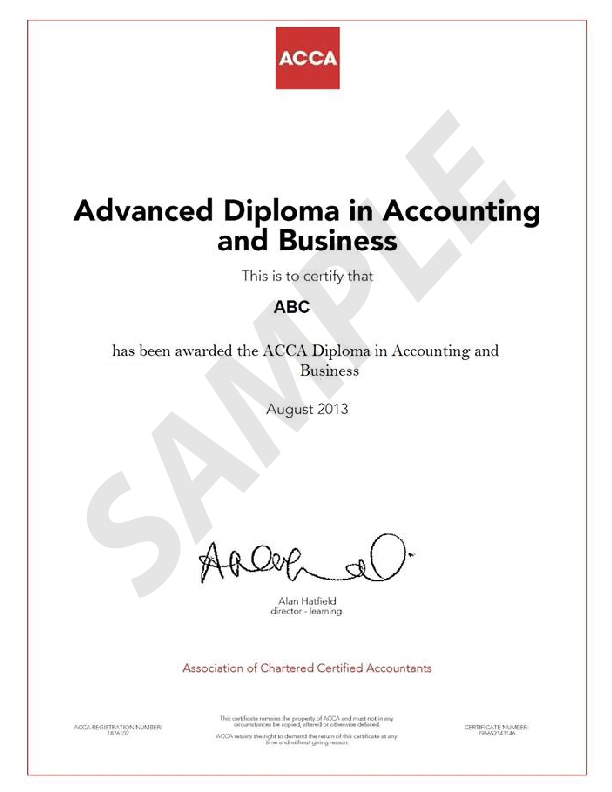 STUDY ACCA DIPLOMA IN ACCOUNTING AND BUSINESS IN QATAR