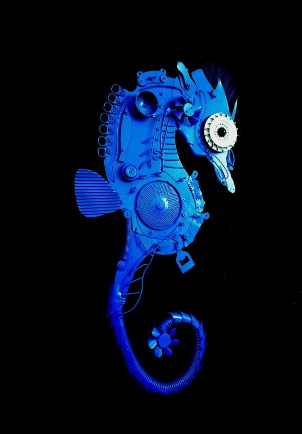 Blue Seahorse - Excellence Art Arte Evento