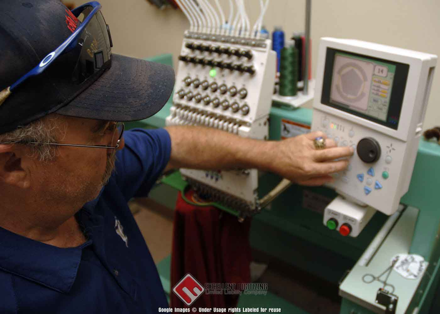 digitizing embroidery machine
