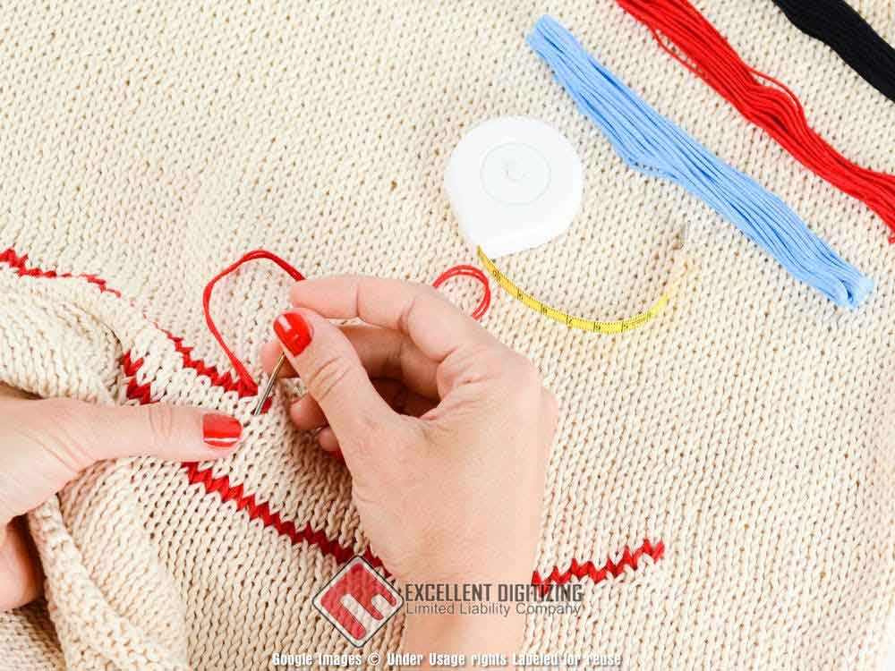 Manual embroidery
