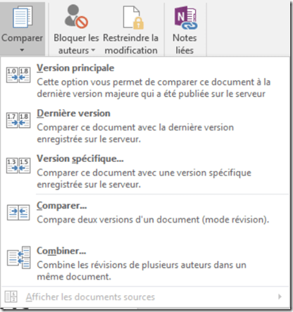 Comparer deux fichiers word - SharePoint versionning