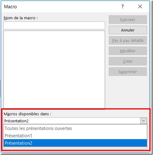 PowerPoint - Changer Langue - Source de la macro
