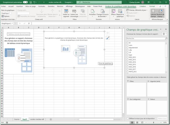 Excel - Graphique croise dynamique vide
