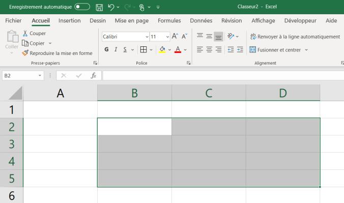 Apprendre Excel : Les plages