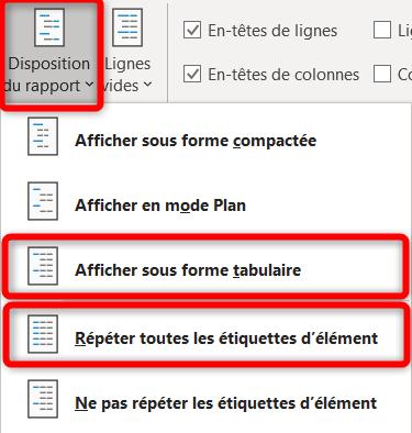 Liste déroulante Excel - Configuration 2nd TCD