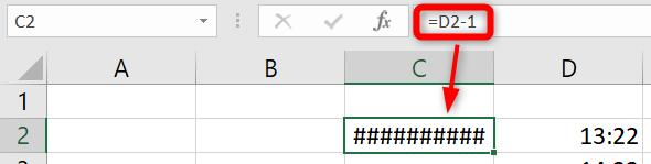 Soustraire heures Excel - Erreur