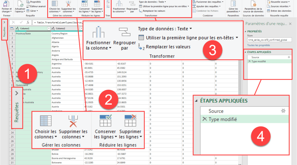Apprendre Power Query - Decouvrir interface