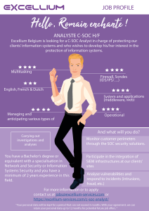 C-SOC Analyst infographics