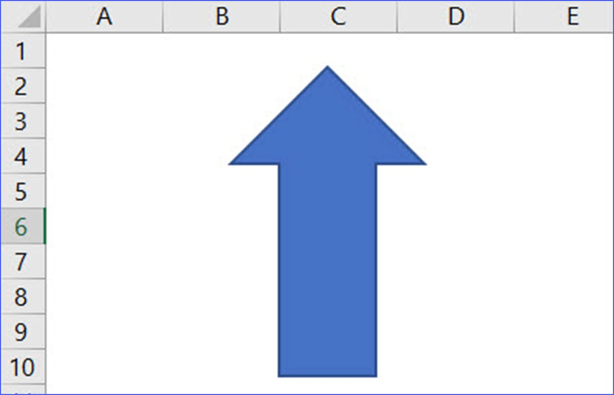 How To Insert A Up Arrow In A Worksheet