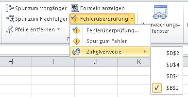 Zirkelbezug In Excel Finden Beheben Oder Nutzen Excelnova