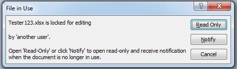 Excel Datei durch einen anderen Benutzer gesperrt