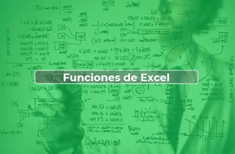 Funciones de Excel más usadas por categorías