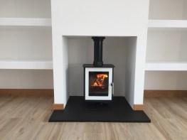 Internal wood-burning stove