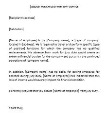 Jury Duty Excuse Letters Templates